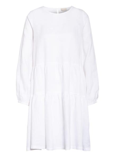 Mrs & HUGS Leinenkleid mit Rüschenbesatz, Farbe: WHITE WHITE (Bild 1)