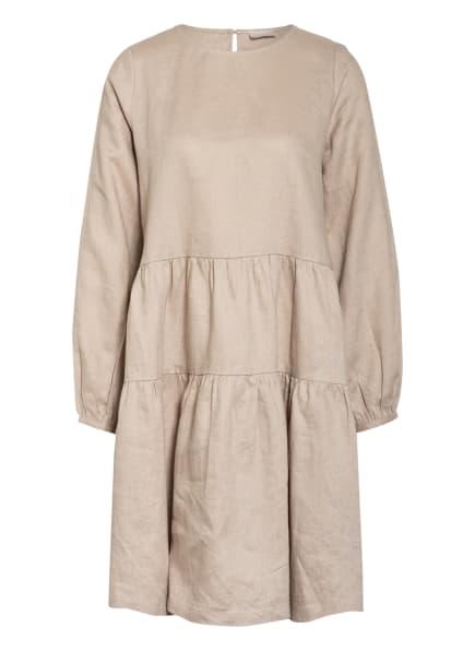 Mrs & HUGS Leinenkleid mit Rüschenbesatz, Farbe: BEIGE (Bild 1)