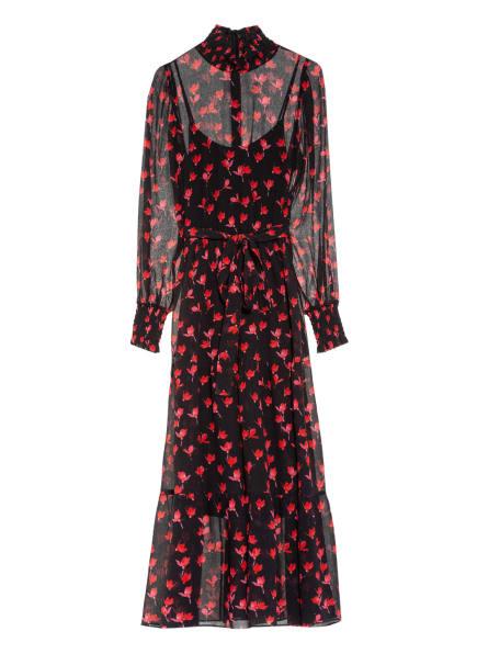 HUGO Kleid KANESI mit Volantbesatz, Farbe: SCHWARZ/ ROT (Bild 1)