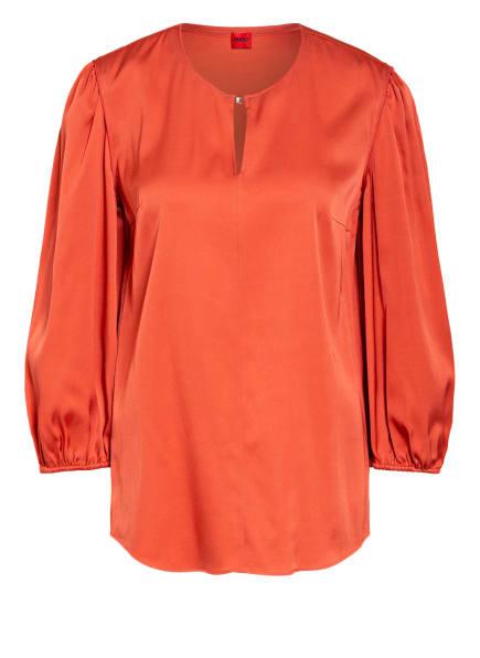 HUGO Blusenshirt CELINA aus Seide, Farbe: DUNKELORANGE (Bild 1)