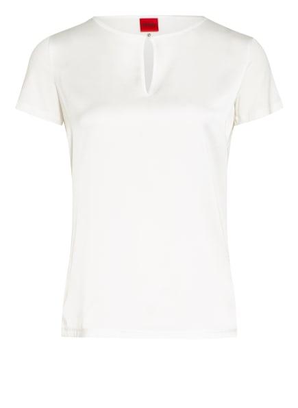 HUGO Blusenshirt DRESSARA im Materialmix, Farbe: WEISS (Bild 1)