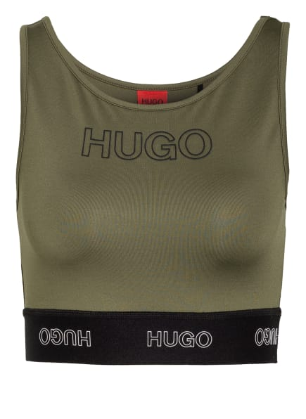 HUGO Cropped-Top DIMSUM , Farbe: KHAKI (Bild 1)