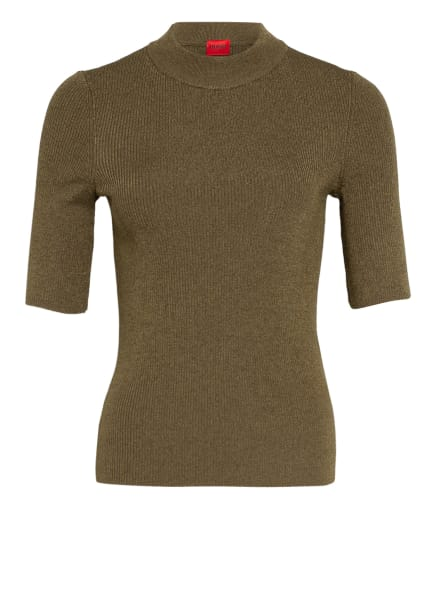 HUGO Strickshirt SHOUNDYNA, Farbe: KHAKI (Bild 1)