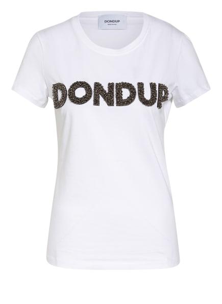 Dondup T-Shirt mit Schmucksteinbesatz , Farbe: WEISS (Bild 1)