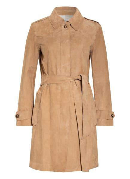 Dondup Trenchcoat aus Leder, Farbe: BEIGE (Bild 1)