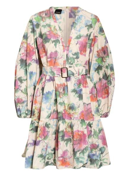 PINKO Kleid EMANCIPATO mit Volantbesatz, Farbe: ECRU/ ROSA/ OLIV (Bild 1)
