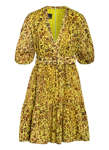 PINKO Kleid NOUVOLOSO mit Volantbesatz , Farbe: GELB/ COGNAC (Bild 1)