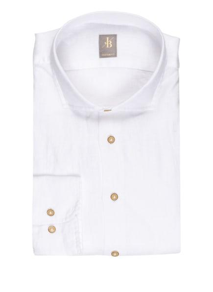 Jacques Britt Leinenhemd SIENA Custom Fit, Farbe: WEISS (Bild 1)