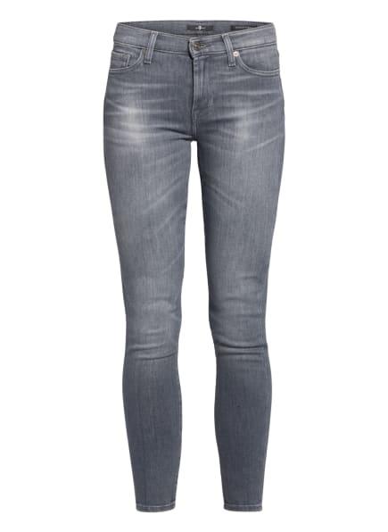 7 for all mankind Skinny Jeans mit Swarovski Kristallen, Farbe: Slim Illusion Believe GREY (Bild 1)