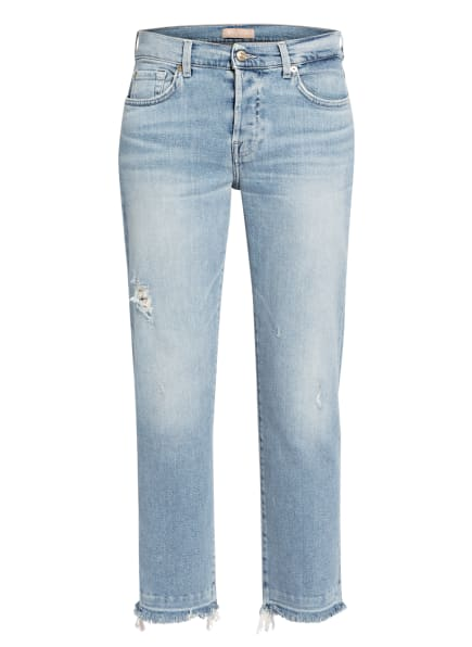 7 for all mankind Jeans, Farbe: Luxe Vintage Skywalk Distressed LIGHT BLUE (Bild 1)