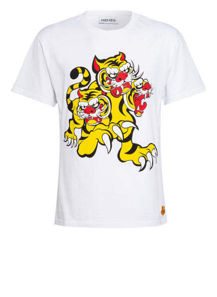 KENZO T-Shirt , Farbe: WEISS/ GELB/ SCHWARZ (Bild 1)