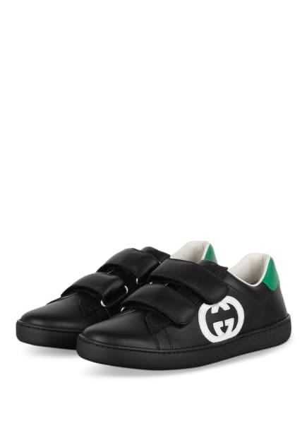 GUCCI Sneaker ACE, Farbe: SCHWARZ/ GRÜN (Bild 1)