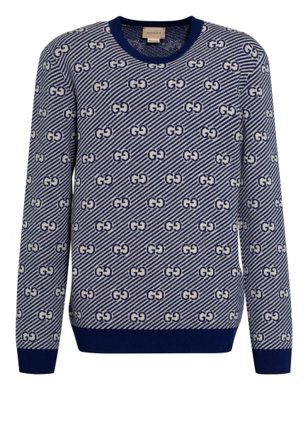 GUCCI Pullover, Farbe: ECRU/ DUNKELBLAU (Bild 1)