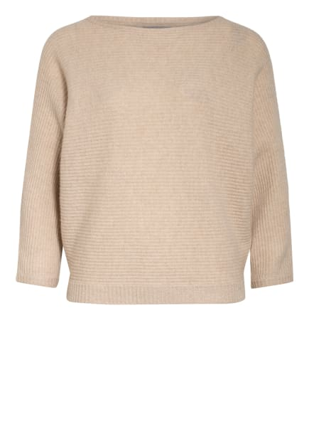 HEMISPHERE Cashmere-Pullover mit 3/4-Arm, Farbe: CREME (Bild 1)