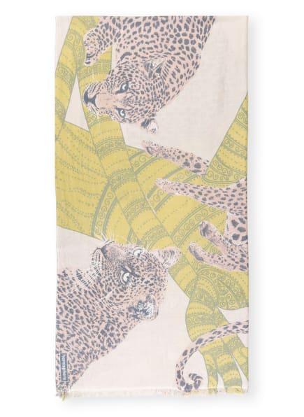 HEMISPHERE Cashmere-Schal DLEOPARD-CS mit Seide, Farbe: CREME/ HELLGRÜN/ HELLROSA (Bild 1)
