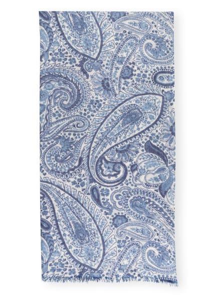 HEMISPHERE Schal DAISLEY mit Leinen, Farbe: BLAU/ HELLGELB/ DUNKELBLAU (Bild 1)