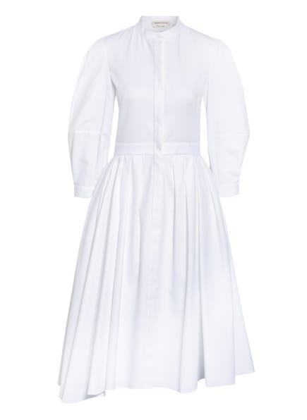 Alexander McQUEEN Hemdblusenkleid mit 3/4-Arm, Farbe: WEISS (Bild 1)