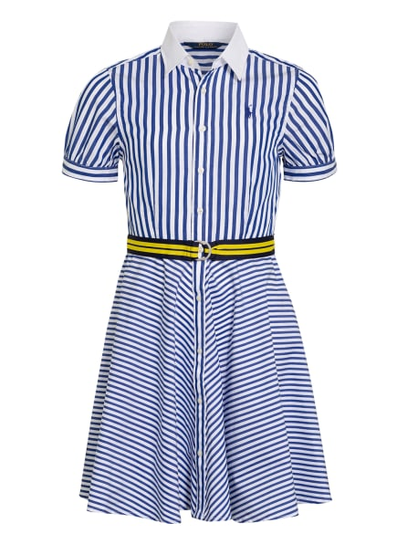 POLO RALPH LAUREN Hemdblusenkleid, Farbe: WEISS/ BLAU (Bild 1)