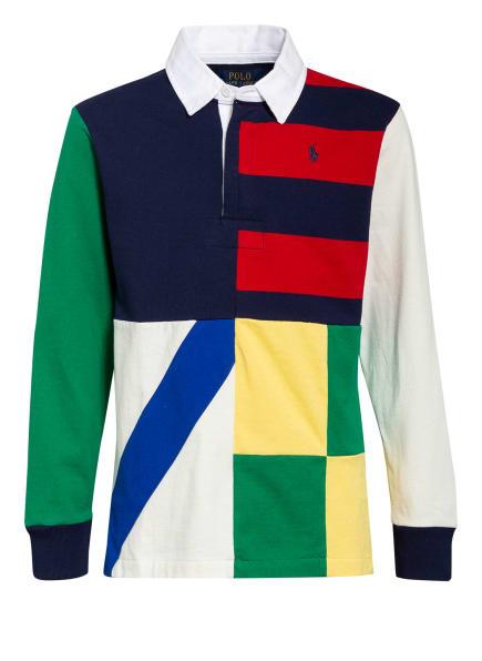 POLO RALPH LAUREN Jersey-Poloshirt, Farbe: DUNKELBLAU/ ROT/ GRÜN (Bild 1)
