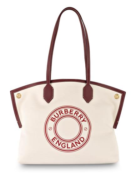 BURBERRY Handtasche SOCIETY MEDIUM, Farbe: CREME/ BRAUN (Bild 1)