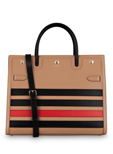BURBERRY Handtasche TITLE MEDIUM, Farbe: CAMEL/ SCHWARZ/ ROT (Bild 1)