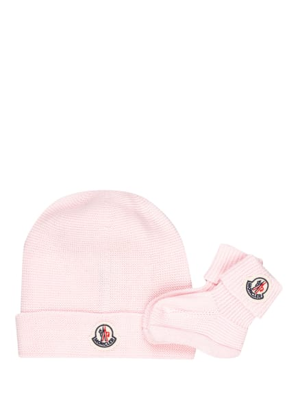 MONCLER enfant Set: Mütze und Socken, Farbe: ROSA (Bild 1)