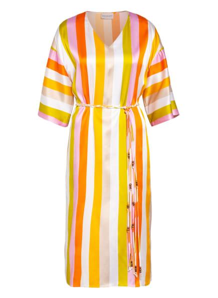 herzensangelegenheit Seidenkleid , Farbe: ORANGE/ WEISS/ ROSA (Bild 1)