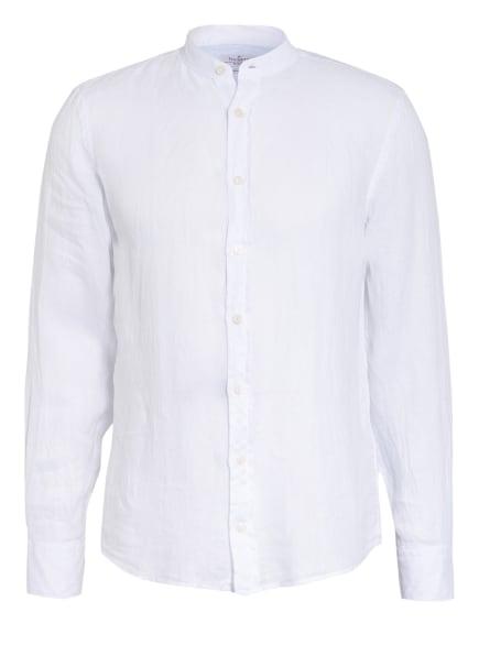 HACKETT LONDON Leinenhemd Slim Fit mit Stehkragen, Farbe: WEISS (Bild 1)