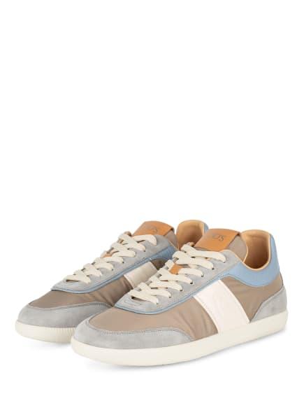 TOD'S Sneaker CASETTA , Farbe: HELLGRAU/ BEIGE/ HELLBLAU (Bild 1)