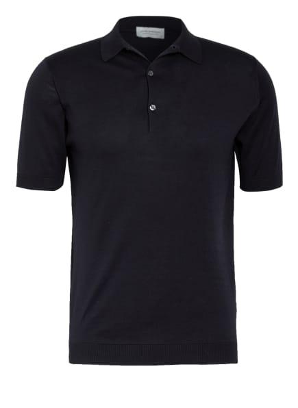 JOHN SMEDLEY Feinstrick Poloshirt ADRIAN, Farbe: DUNKELBLAU (Bild 1)