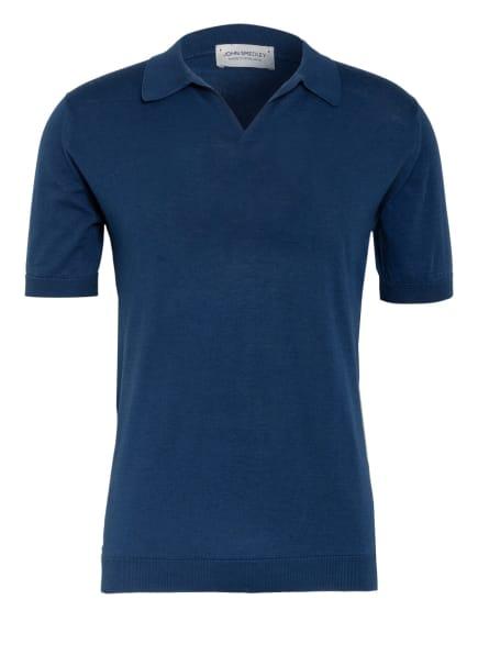 JOHN SMEDLEY Jersey-Poloshirt Standard Fit, Farbe: BLAU (Bild 1)