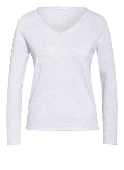 FABIANA FILIPPI Pullover mit Glanzgarn, Farbe: HELLGRAU (Bild 1)