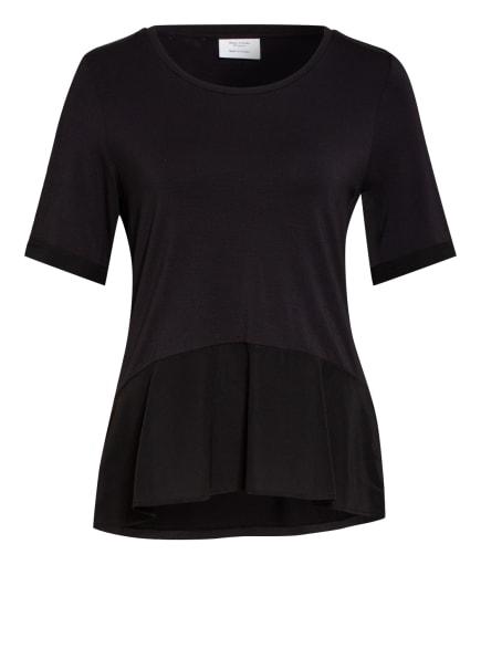 Marc O'Polo Pure T-Shirt mit Seidenbesatz, Farbe: SCHWARZ (Bild 1)