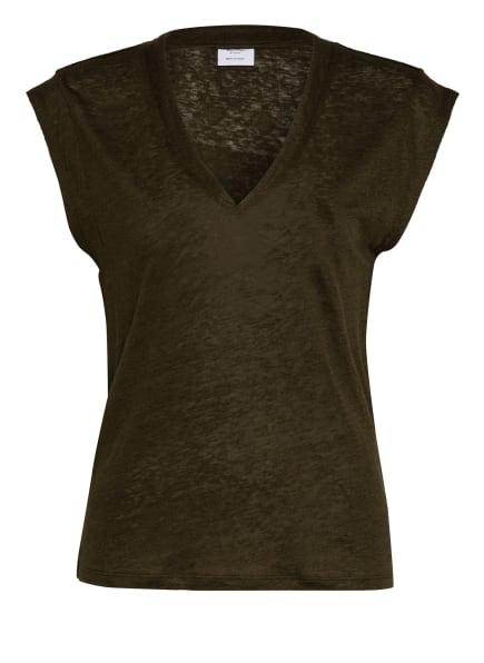 Marc O'Polo Pure T-Shirt aus Leinen mit Seide, Farbe: DUNKELGRÜN (Bild 1)