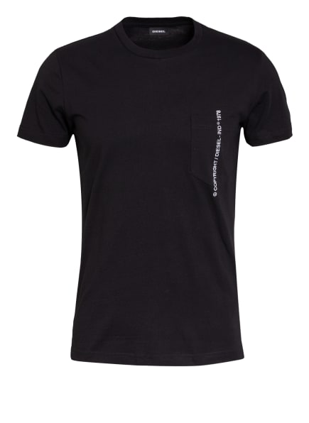 DIESEL T-Shirt RUBIN, Farbe: SCHWARZ (Bild 1)