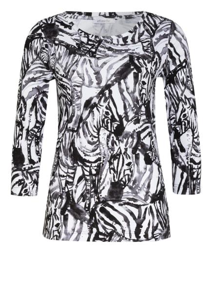 efixelle Shirt mit 3/4-Arm, Farbe: WEISS/ SCHWARZ (Bild 1)