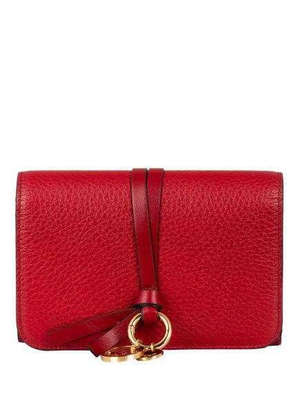 Chloé Geldbörse ALPHABET, Farbe: SMOKED RED (Bild 1)