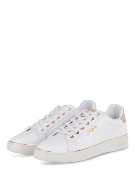 GUESS Sneaker, Farbe: WEISS/ GOLD (Bild 1)