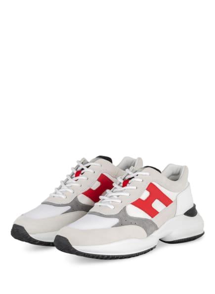 HOGAN Sneaker NTERACTION , Farbe: WEISS/ HELLGRAU/ ROT (Bild 1)