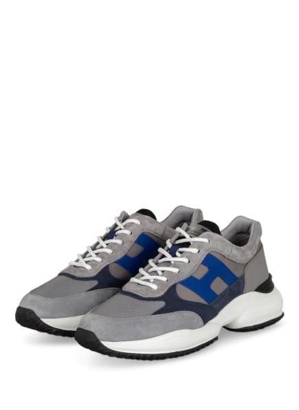 HOGAN Sneaker INTERACTION, Farbe: HELLGRAU/ DUNKELBLAU (Bild 1)