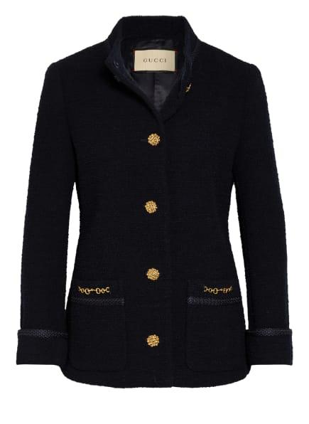 GUCCI Tweed-Jacke, Farbe: DUNKELBLAU (Bild 1)