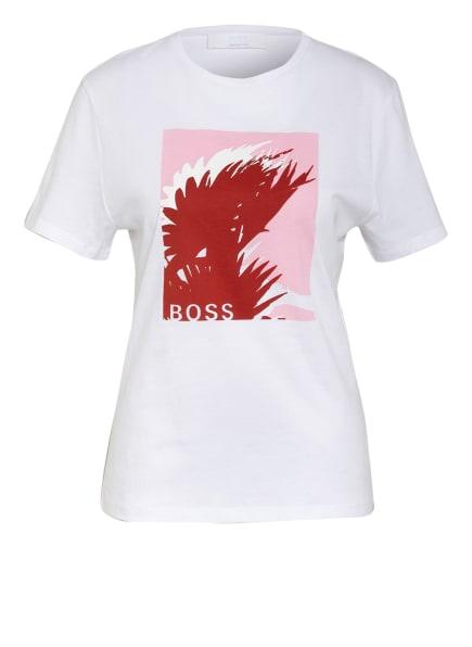 BOSS T-Shirt EFORMA, Farbe: WEISS/ DUNKELROT/ ROSA (Bild 1)