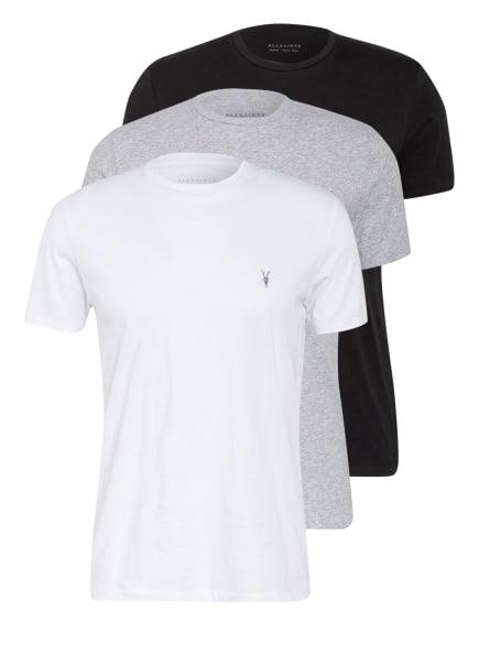 ALL SAINTS 3er-Pack T-Shirts TONIC, Farbe: WEISS/ GRAU/ SCHWARZ (Bild 1)