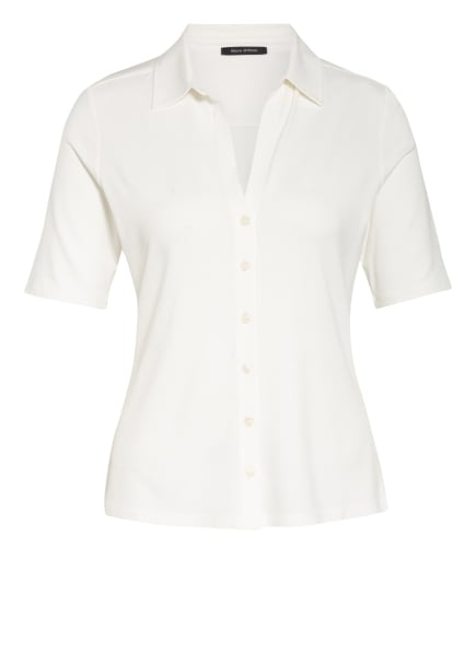 Marc O'Polo Hemdbluse aus Jersey, Farbe: WEISS (Bild 1)