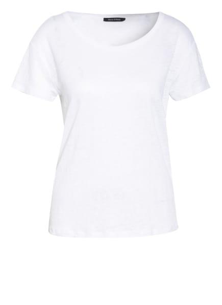 Marc O'Polo T-Shirt aus Leinen, Farbe: WEISS (Bild 1)