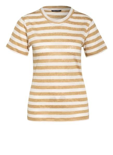Marc O'Polo T-Shirt aus Leinen, Farbe: COGNAC/ CREME (Bild 1)