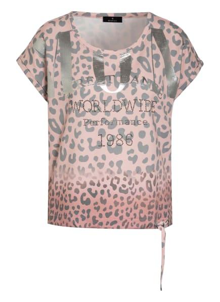 monari T-Shirt mit Schmucksteinbesatz, Farbe: ROSÉ/ GRAU/ SILBER (Bild 1)