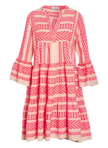 Devotion Kleid ELLA, Farbe: ECRU/ NEONROT (Bild 1)