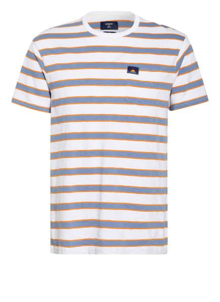 Superdry T-Shirt, Farbe: WEISS/ HELLBLAU/ DUNKELORANGE (Bild 1)