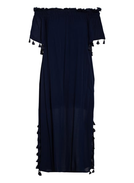 watercult Off-Shoulder-Kleid SOLID CRUSH, Farbe: DUNKELBLAU (Bild 1)